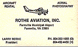 Rothe Aviation Inc.'s Business Card